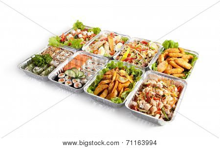 Airplane Food - Various Sushi Box, Salads and Pasta