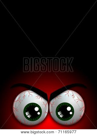 Halloween Monster Eyes With Place For Text