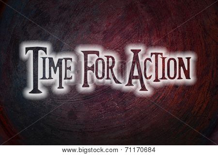 Time For Action Concept