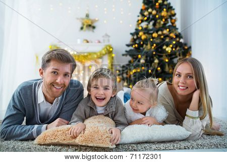 Family with children at home