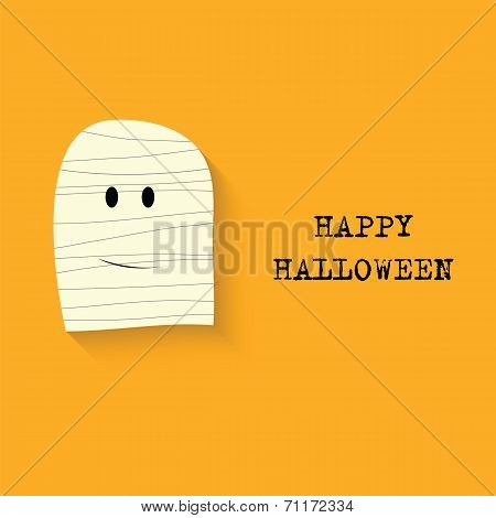 Halloween Vector  Background With Mummy