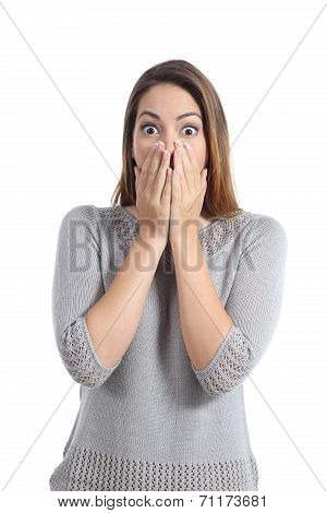 Surprised Woman Expression With Wide Opened Eyes
