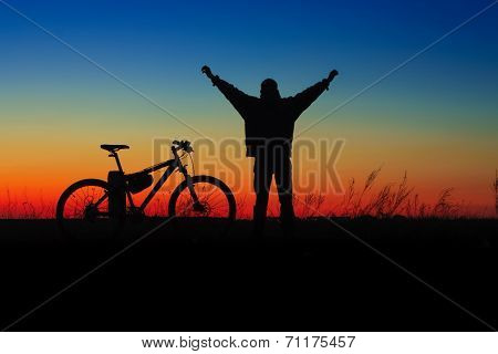 Wheelman Silhouette With Cycle