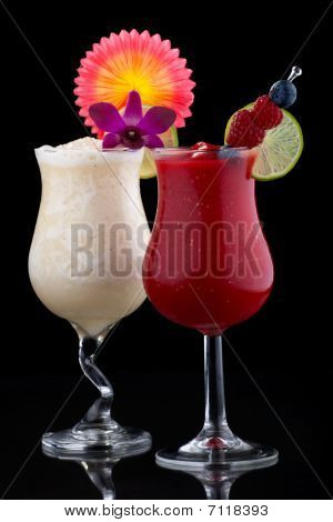 Banana And Raspberry Daiquiri - Most Popular Cocktails Series