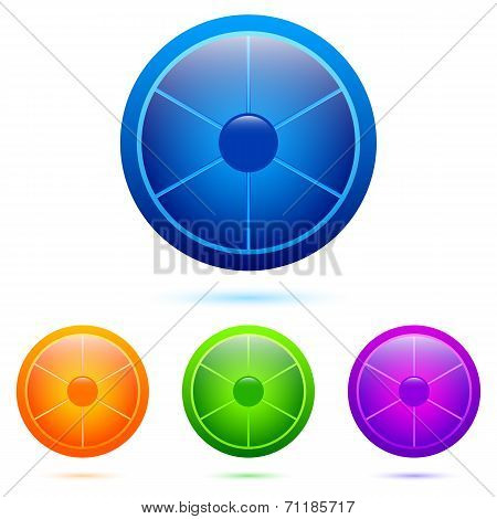 Set of segmented buttons