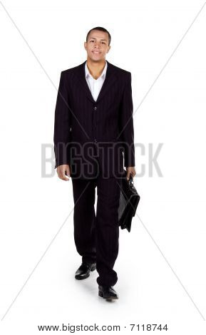 Young Successful Businessman With A Briefcase