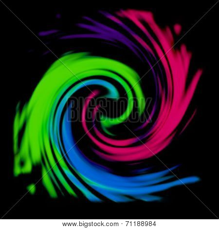 Multicolor Swirl Abstract Background
