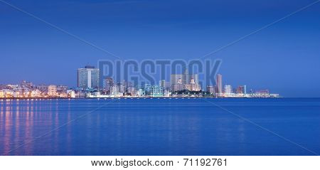 Cuba, Caribbean Sea, La Habana, Havana, Skyline At Morning