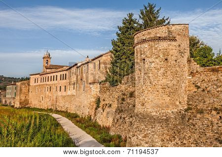 City Walls Of Bevagna, Umbria, Italy