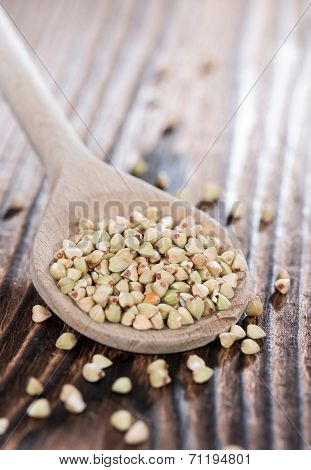 Wooden Spoon With Buckwheat