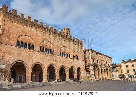Cavour Square In Rimini, Italy