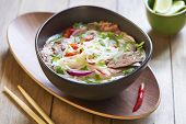 stock photo of rice noodles  - Pho bo - JPG