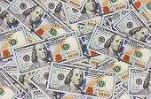 image of american money  - Background with money american hundred dollar bills - JPG