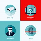 image of virus scan  - Modern flat vector concepts of security and surveillance - JPG