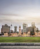 picture of kuala lumpur skyline  - Malaysia city skyline with famous buildings - JPG