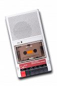 picture of magnetic tape  - Old Cassette Tape player and recorder on a white background - JPG