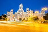 picture of old post office  - Plaza de la Cibeles  - JPG