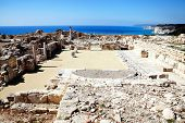 stock photo of nea  - The 4th century Roman ruins at Nea Paphos - JPG