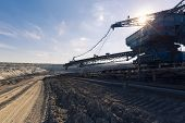 picture of dredge  - a huge working dredge in a mine - JPG