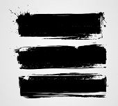 image of messy  - Set of three black grunge banners for your design - JPG