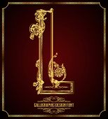 picture of glyphs  - Calligraphic Design Font with Typographic Floral Elements - JPG
