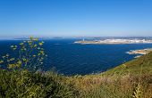 picture of hercules  - View on the famous lighthouse or Hercules Tower and the center of A Coruna Galicia Spain - JPG