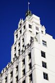 stock photo of memphis tennessee  - White Building against Blue Sky  - JPG