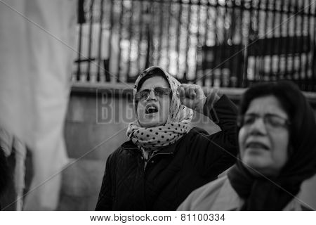 Iranian Woman at Protest