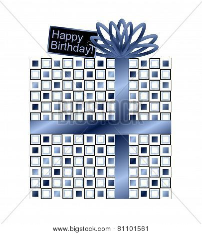 Blue and White Birthday Gift