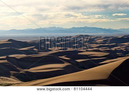 Sunset Light Over The Dunes