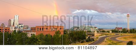 Colorful Sky Over Denver Colorado