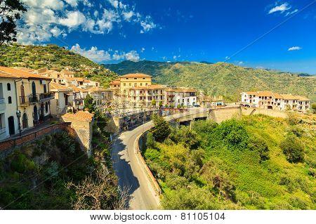 View Of Small Village Savoca