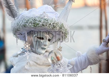 Mask On Carnival, Piazza San Marco, Venice, Italy