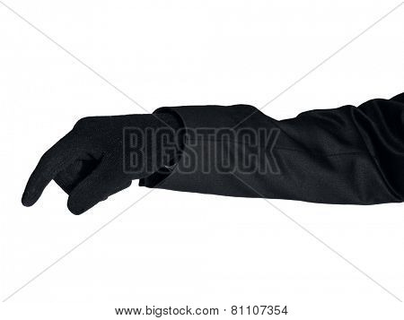 Isolated thief hand on white