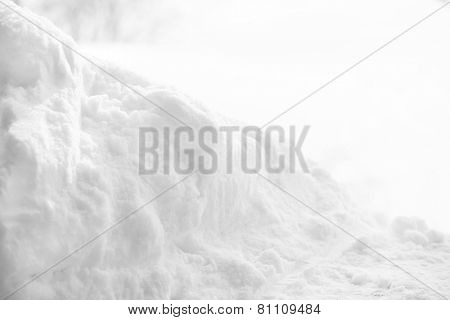 Snowdrift with blurred background