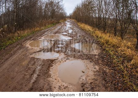 Autumn Roads Around Palekh, Vladimir Region, Russia