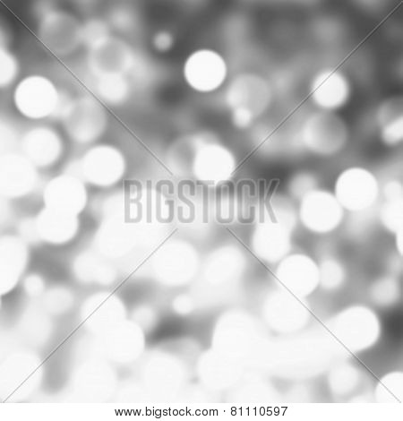 Silver Lights Festive Christmas  Background With Texture. Abstract Christmas Twinkled Bright Backgro