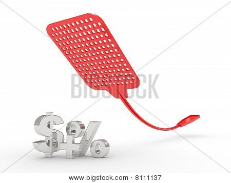 Fly Swatter Isolated On White Background