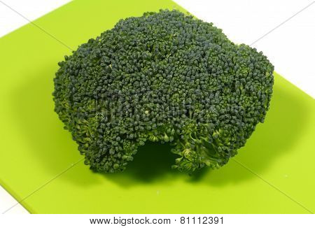 Green vegetable on a board