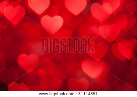 red brown heart shape holiday photo background
