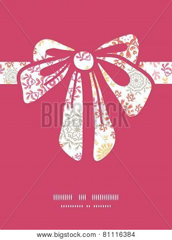 Vector folk floral circles abstract gift bow silhouette pattern frame