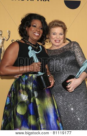 LOS ANGELES - JAN 25:  Lorraine Toussant, Annie Golden at the 2015 Screen Actor Guild Awards at the Shrine Auditorium on January 25, 2015 in Los Angeles, CA