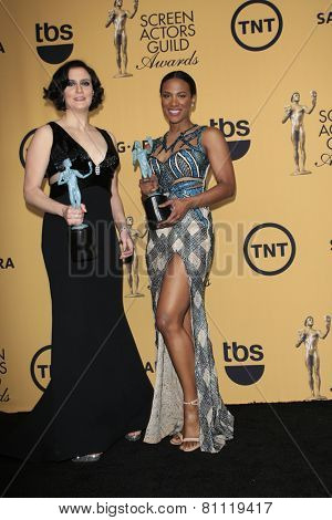LOS ANGELES - JAN 25:  Julie Lake, Vicky Jeudy at the 2015 Screen Actor Guild Awards at the Shrine Auditorium on January 25, 2015 in Los Angeles, CA