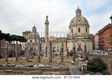 Roman Forum Piazza Foro Traiano, Rome Italy
