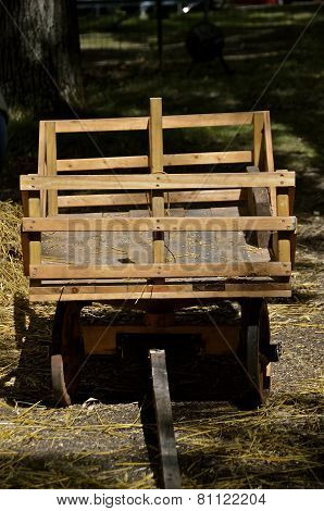 Horse drawn hay rack