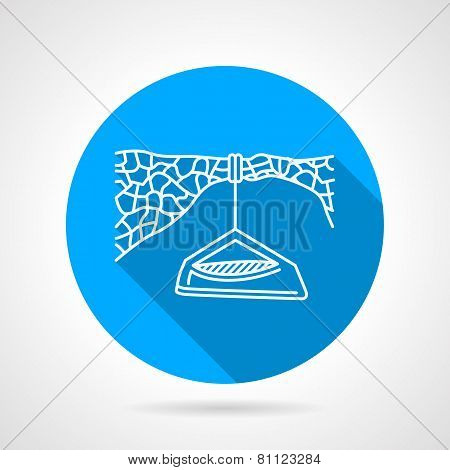 Flat vector icon for hanging camp