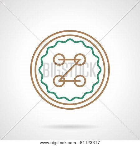 Flat vector icon for sewing button