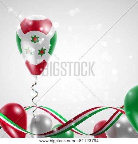 Flag of Burundi on balloon