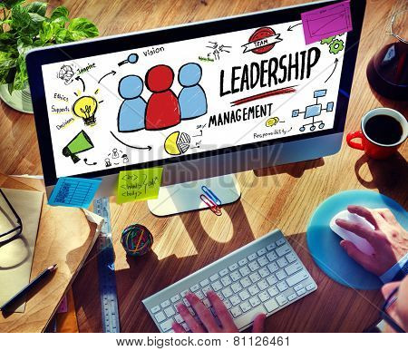 Businessman Leadership Management Digital Communication Manage Concept