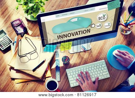 Innovation Ideas Business New Future Man Working Concept